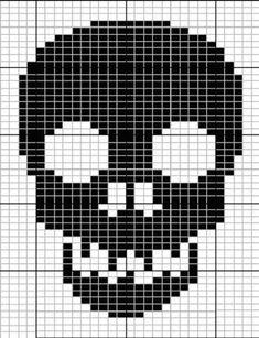 Double Knit Skull Scarf pattern by SabrinaJL - Stricken ist so einfach wie - Knitting for beginners,Knitting patterns,Knitting projects,Knitting cowl,Knitting blanket Knitting Charts, Loom Knitting, Knitting Stitches, Knitting Patterns, Crochet Patterns, Cross Stitching, Cross Stitch Embroidery, Cross Stitch Patterns, Crochet Skull