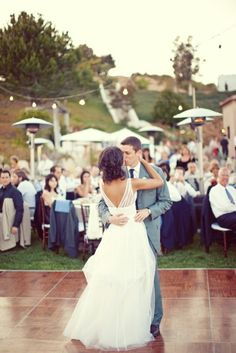 if you wanted to dance at your reception at an outdoor wedding, portable dance floor