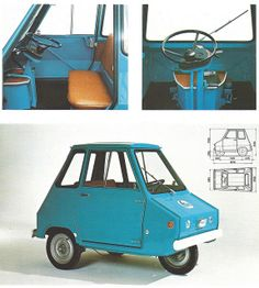 1969 Casalini Sulki. It had a 635 cc motor and was the basis of all kinds of very small Italian commercial vehicles.