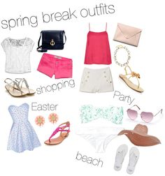 """spring break outfits"" by jennajoann on Polyvore"