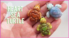 Adorable clay turtle Tutorial by cool rice bunnies To raise awareness about the endangered species of turtles