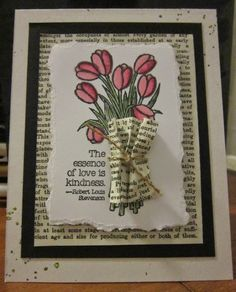 Krafting with Karen: Love is Kindness Stamped Card