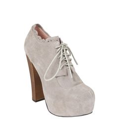 SERENN SUEDE BOOTIES WITH SCALLOP ANKLE - Betsey Johnson