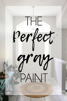 indoor paint colors The perfect gray paint for any home is Seattle by Color Wheel. This gray paint doesn't have any blue, green, or purple undertones. It's a stunning color! Shades Of Grey Paint, Best Gray Paint Color, Greige Paint Colors, Office Paint Colors, Light Gray Paint, Blue Gray Paint, Neutral Paint Colors, Gray Color, Wall Colors