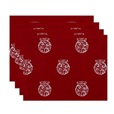 Ornament Swirl Decorative Holiday Table Top Placemat