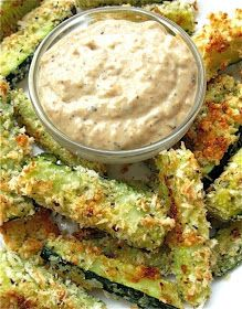 Recipes, Dinner Ideas, Healthy Recipes & Food Guide: Baked Zucchini Sticks and Sweet Onion Dip