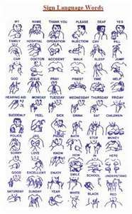 sign language words