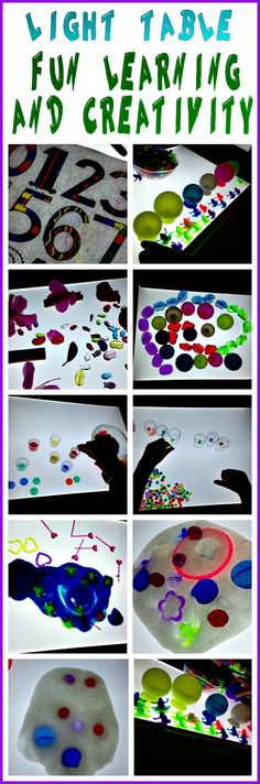 Light Table Fun, Learning, and Creativity