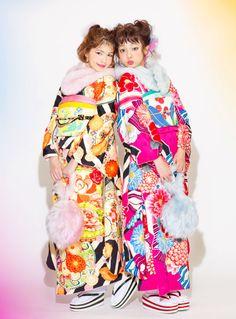 Japanese Outfits, Japanese Fashion, Kimono Outfit, Kimono Top, Modern Kimono, Japan Woman, Rite Of Passage, Yukata, Japanese Kimono