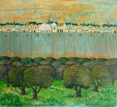 Nabil Anani - East Jerusalem Landscape Paintings, Landscapes, Palestine Art, East Jerusalem, Urban Landscape, African Art, Cat Art, Egypt, Folk
