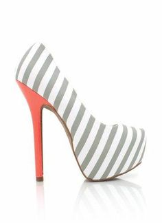 striped-colorblock-platform-heels BLACK LTGREY NAVY - GoJane.com from GoJane. Saved to My Closet. #heels #grey #peach #love #striped #stripedheel #two #platform.