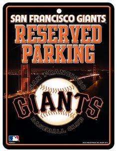 San Francisco Giants Metal Parking Sign #SanFranciscoGiants
