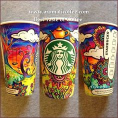 Starbucks to Feature an Original Crowd-Sourced Artwork on its Reusable Plastic Cups -- Love when companies reach out to their fans and customers for inspiration! Arte Starbucks, Starbucks Coffee Cups, Copo Starbucks, Coffee Cup Art, Starbucks Christmas, Christmas Cup, Starbucks Drinks, Starbucks Cup Drawing, Reusable Plastic Cups