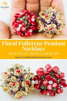 ? We�d like to offer you our new beaded flower free necklace pattern - Floral Fullerene Pendant Necklace! It might seem difficult to be repeated, but it�s actually very simple and elegant at the same time. Follow this free beaded flower pendant necklace pattern and create your beading projects with inspiration! Materials you will need are Pinch Czech glass beads which you should alternate with SuperDuo beads and in such a way create the center of the flower bead pattern. As the next step…