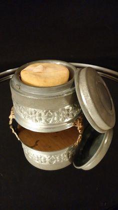 Musical Aluminum Powder Tin Footed Box by frankiesfrontdoor, $42.00