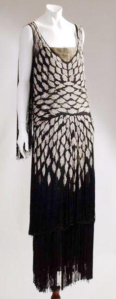 vestido de franjas (Chanel)