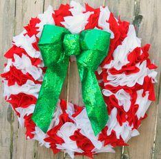 Love this #fabulouslyfestive Candy Cane Wreath from @Kara Harvey