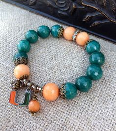 Miami Hurricanes Stretch Bracelets ~ Fashionista Football Fan ~ CANES Bling by Country Chic Charms