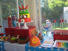 Yo Gabba Gabba party ideas! candybar