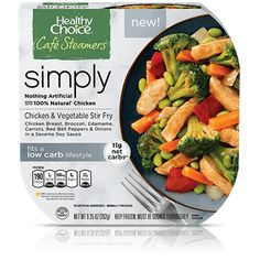 Buy again! Healthy Choice Cafe Steamers Chicken & Vegetable Stir Fry