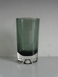 """Smoke Gray KAJ FRANCK Signed Nuutajarvi Notsjo Sommerso Glass Vase 8.75"""""""