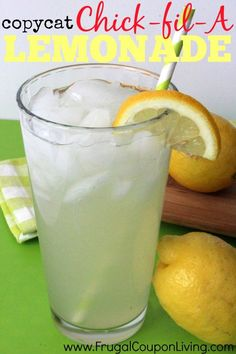 Copycat Chick fil A Lemonade Recipe on Frugal Coupon Living. Refreshing and Relaxing beverage recipe for Spring and Summer.