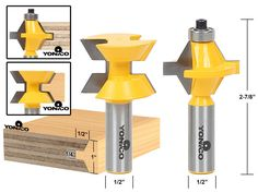 Matched Tongue AND Groove Router BIT SET Edge Banding 15223 | eBay