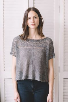 bolan tee knitting pattern - Quince and Co