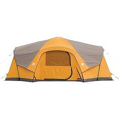 19'x12' - 3-room tent with LED lighting system and fan $149.99 (Coleman) (we got this one - set it up once, very tall, and pretty big, but with 5 people, mattresses, sleeping bags and stuff, it'll be just big enough)