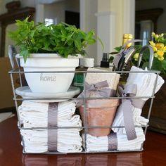 DIY Housewarming Planter & Basket.