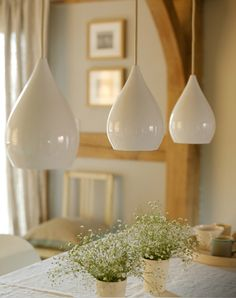 The paper mulberry new country living – DIY in 2020 Decor, White Pendant Light, Home Lighting, White Pendant, Oak Frame House, Country Living, Drop Lights, Lights, Merry Christmas To You