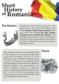 History Of Romania, Prehistory, Continents, Activities For Kids, Culture, Sweet, Travel, Candy, Viajes