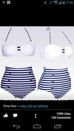 Highwasted bathing suit