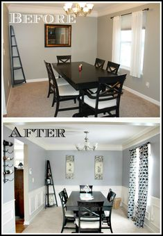 DIY Dining Room Makeover Love The Wainscotting I Might Try Doing This In Our