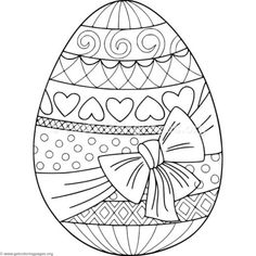 Kids Easter themed coloring pages - print these secular spring, egg ...