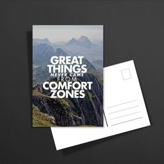 POSTKARTE great things never came from comfort zones: 1,60€