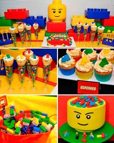 Themes for birthday parties according to age for child - Celebrat : Home of Celebration, Events to Celebrate, Wishes, Gifts ideas and more ! Lego Themed Party, Lego Birthday Party, 6th Birthday Parties, Boy Birthday, 5th Birthday Ideas For Boys, Lego Party Games, Lego Friends Birthday, Lego Party Decorations, Ninjago Party