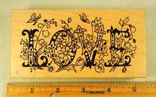 Rubber Stamp PSX Botanical Love K1915 Word Flowers Romance  #1736