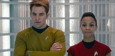 STAR TREK INTO DARKNESS - Chris Pine and Zoe Saldana in a new Ears Burning clip