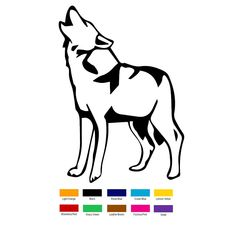 Wholesale 10 pcs/lot 15cm x 15cm Wolf Standing Howl Hunt Wolves Car Sticker For Truck Window Bumper Auto SUV Door Laptop Kayak