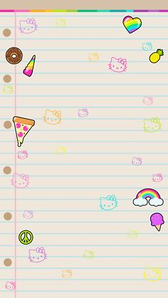 Pretty Phone Backgrounds, Beautiful Wallpapers For Iphone, Hello Kitty Backgrounds, Hello Kitty Wallpaper, Wallpaper Iphone Cute, Cellphone Wallpaper, Cute Wallpapers, Printable Lined Paper, Free Printable Stationery
