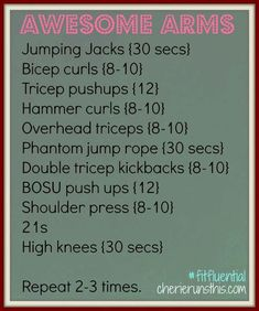 ARM/cardio workout. Think ill try this tomorrow morning at the gym