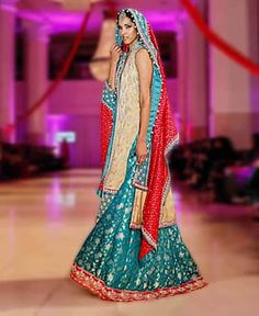 D4725 Dazzling Bridal Dress with Falred Sharara Sana Abbas Bridal Dresses Falred Sharara Wedding Dresses IBFJW 2013 UK