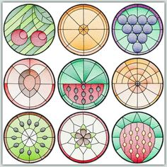 BFC-Creations   Use in quilts, table runners and mats. They would also be an interesting addition to Fred's other Stained Glass sets to make a fantastic quilt. Stained Glass Floral Squares, Stained Glass Floral Squares II, Stained Glass Squares-Birds and Butterflies and Stained Glass Squares - Fruit. Thread Kit Available.