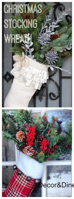 Door Christmas stocking...wreath alternative