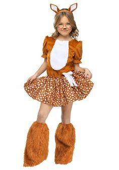 rain forest halloween costumes | Girls Oh Deer Costume