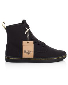 Martens Shoreditch Boot in Black Canvas - at Precious Peg Black Canvas, Whats New, Dr. Martens, Winter Boots, Converse Chuck Taylor, High Top Sneakers, How To Wear, Shoes, Fashion