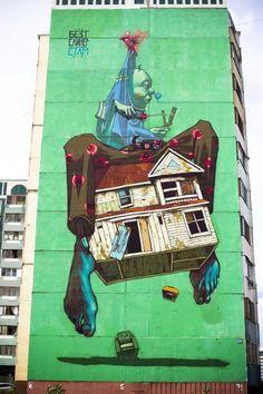 Sainer x Bezt (Etam Cru) New Mural @ Kazan, Russia