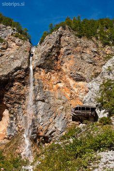 Rinka Waterfall (105m), Logarska Dolina (Logar Valley), Upper Carniola, Slovenia