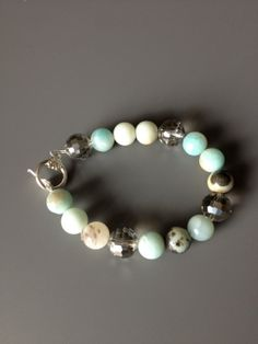 Robin Blue and Crystal Bracelet by LittleGemsByLuisa on Etsy, $25.00